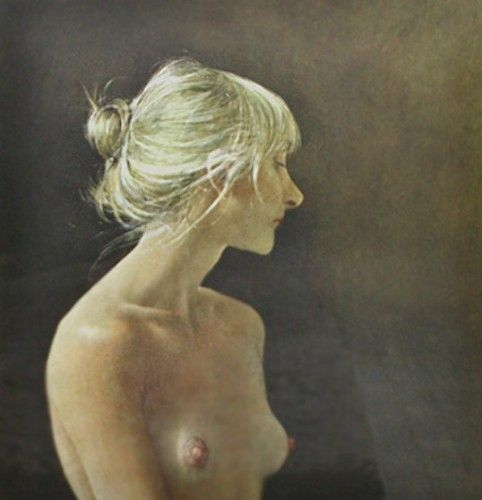 Beauty Mark 1985 HS by Andrew Wyeth - Collotype on Paper