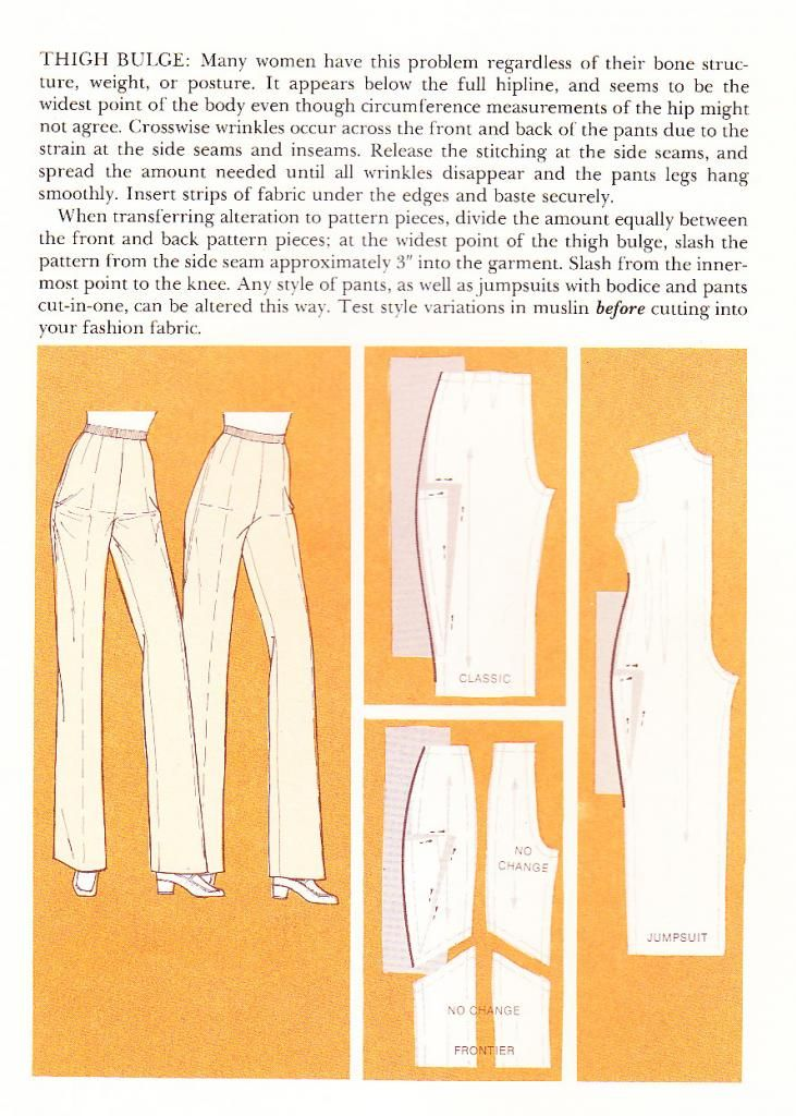 Altering for more ease across hips/thighs | Vogue Sewing Book