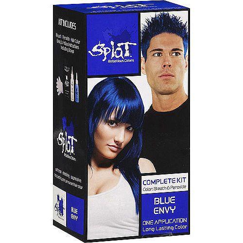Blue Envy Splat Hair Dye Dark Brown Hairs