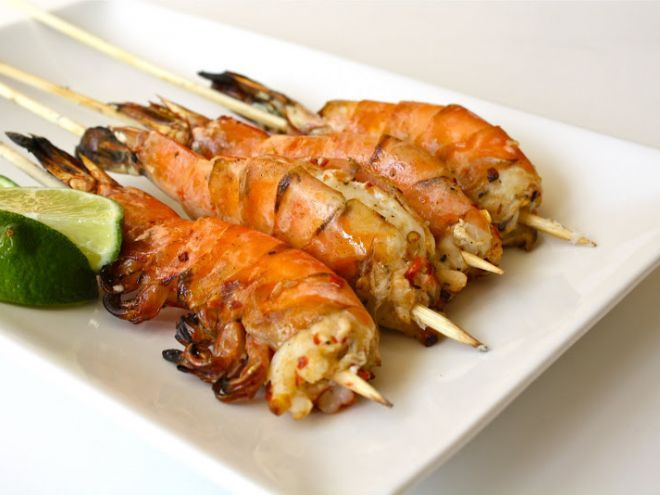 Recipe Appetizer : Grilled jumbo prawns by Seasaltwithfood