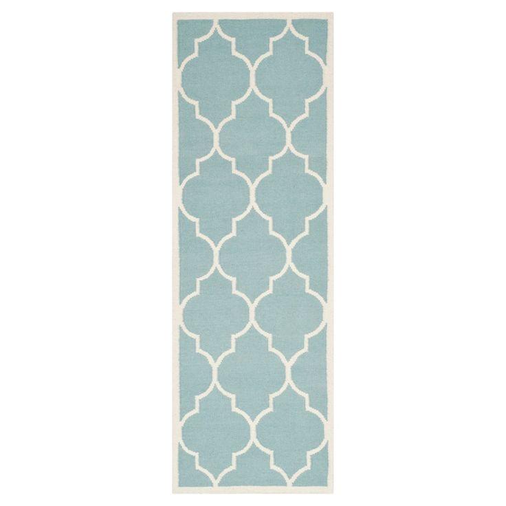 Alarice Dhurry Rug - Light Blue/Ivory - (2'6x12') - Safavieh