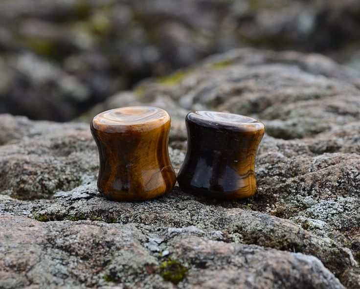 IT'S THE EYE OF THE TIGER, IT'S THE THRILL OF THE FIGHT...  It's stuck in your head now isn't it? How about sticking a pair of these stunning Tiger's Eye plugs in your head! Now that's what I call a segue. (That's seg-way. Betcha didn't know that's how it's spelled!)  These plugs are sold sepa...