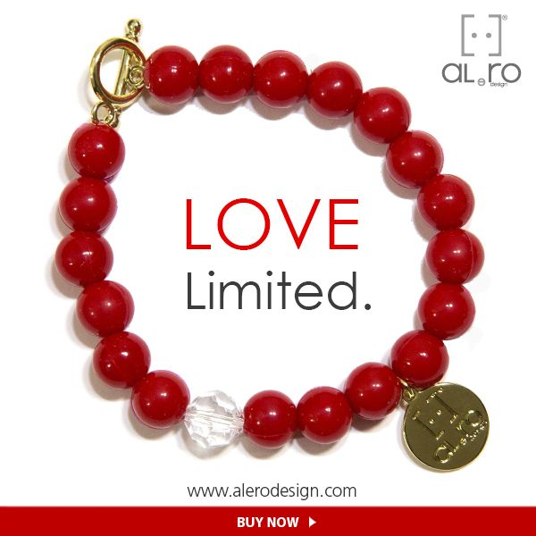 LOVE - Limited Edition Bracelets made of gum with a Swaroski stone. << Not only for Valentine's day >>  #BUYNOW ---> http://www.alerodesign.com/shop_home.php