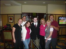 Joseph Mascolo and his wife got to be good friends with some of the management and guests at the Courtyard Marriott Hotel in West Hartford, CT