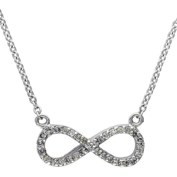 EFFY COLLECTION 14 Kt. White Gold Diamond Infinity Necklace found on Polyvore