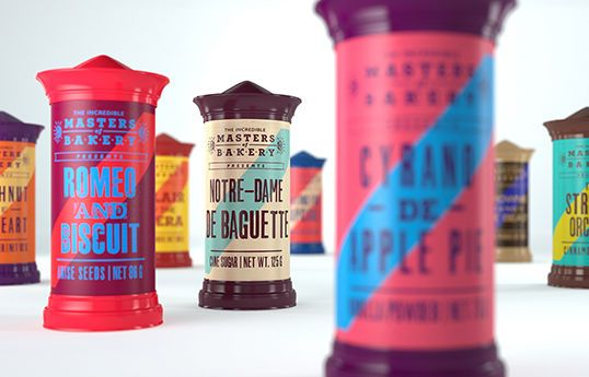Theatrical Baking Packaging - Tough Slate Design's Spice Packaging Mimics Traditional Playbills (GALLERY)
