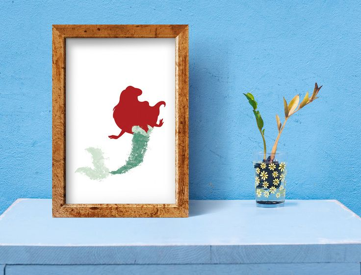 The Little Mermaid Arial Water Colour Poster - 5 File Download by Jamsnovelties on Etsy