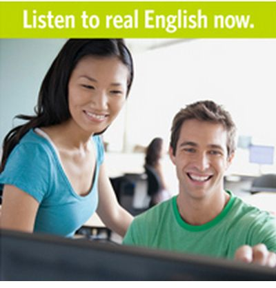 We offer a very easy way to 		learn English: Just Listen. We have American, British and Global 		English speakers in real-world situations. Choose from over 500 		passages with interactive tests. Enjoy!