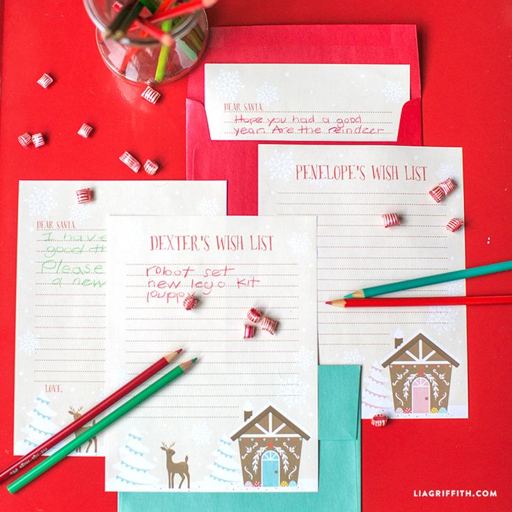 Our printable letter to Santa makes it more fun than ever for kids to write to Father Christmas this Holiday season. Design and download by Lia Griffith