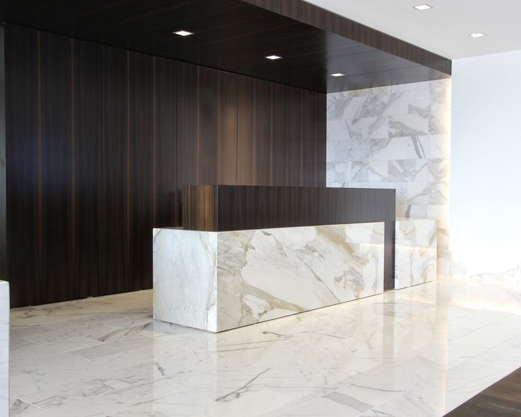 Reception Desk built by Impressions Architectural Millwork