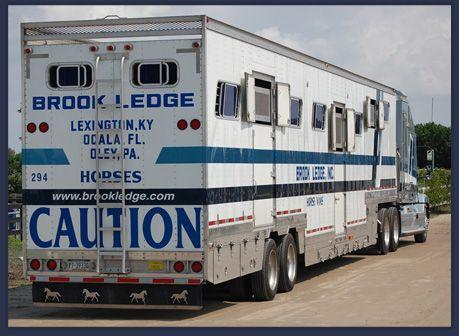 Brook Ledge Horse Transportation | Reliable Horse Transport | Pennsylvania, Kentucky, Florida