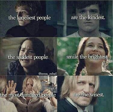 Hunger Games wisdom applied to real life.