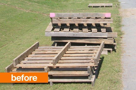Before & After: Pallets, from Scrap to Sofa