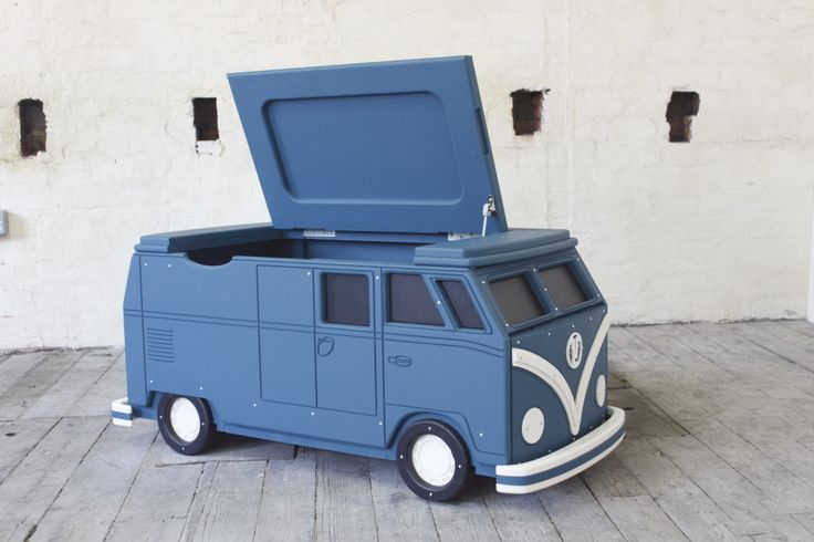 Camper Van Large Toy Chest by Fun Furniture Collection. Home of theme beds, toy boxes and storage. Visit www.funfurniturecollection.co.uk for more details. :-)