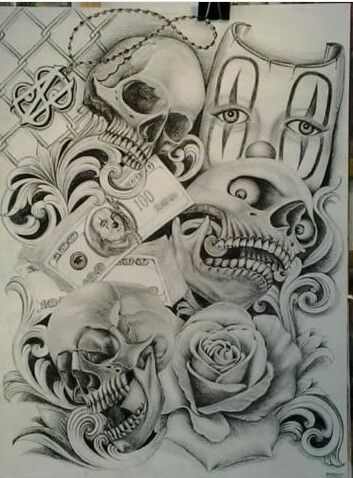 25 best ideas about chicano drawings on pinterest chicano art tattoos chicano tattoos. Black Bedroom Furniture Sets. Home Design Ideas