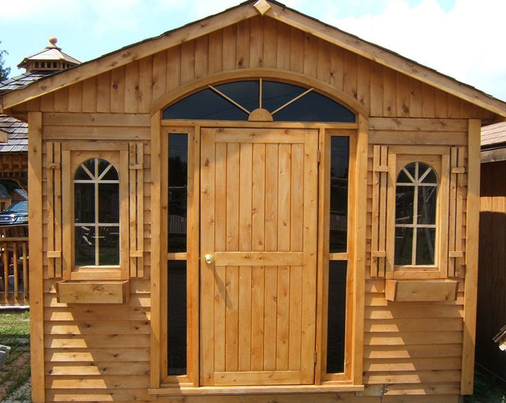 Custom cedar shed by Flamborough Patio