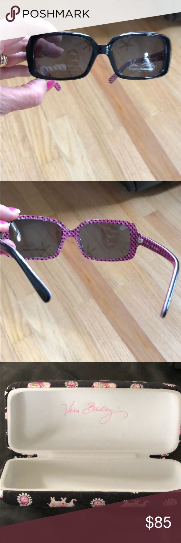 Vera Bradley Sunglasses Brand New never worn Vera Bradley Sunglasses with matching case. Only out of the plastic for these pictures. Vera Bradley Accessories Sunglasses