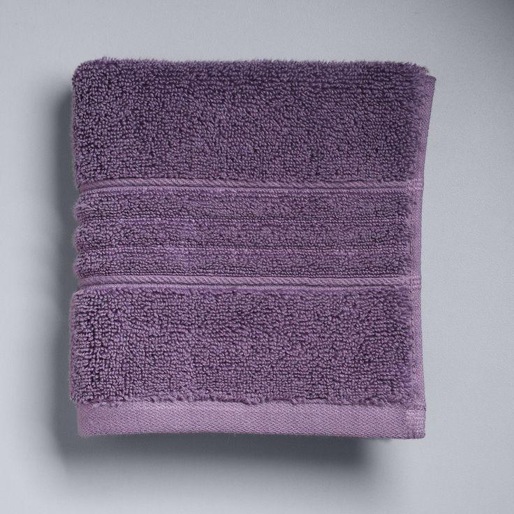 Simply Vera Vera Wang Signature Washcloth, Dark Pink