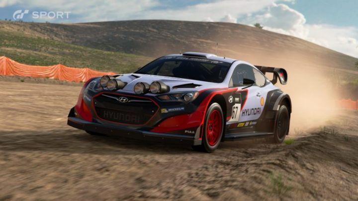 Hyundai Genesis Group.B rally car