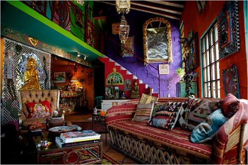 Hippie Boho Colorful Interior
