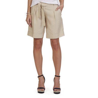 """Nautica Belted Trouser Short (9"""") - Sandy Beach #vermontfashion"""