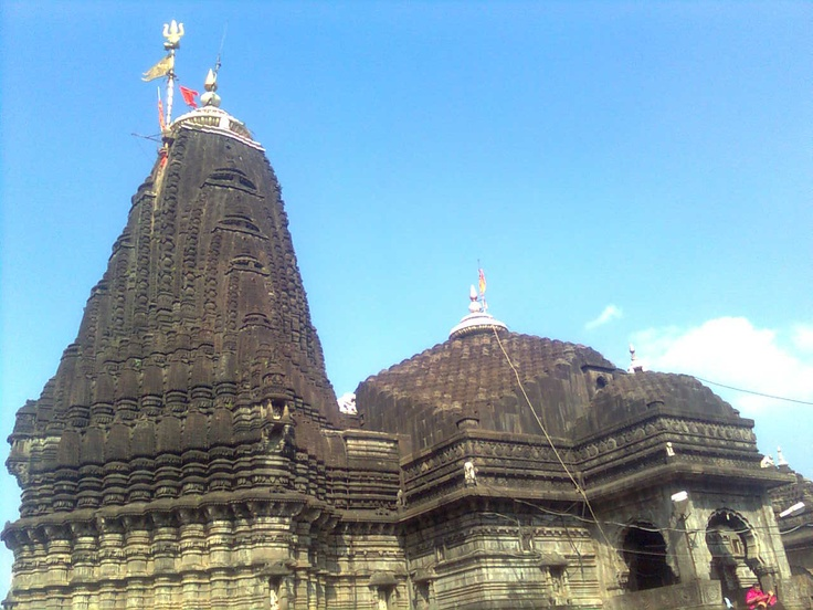 Trimbakeshwar Shiva Temple is an ancient Hindu temple in the town of  Trimbak, Nashik District, Maharashtra, India. This temple is located at the source of the Godavari River, the longest river in the peninsular India. The Godavari River, which is considered sacred within Hinduism, originates from 'Bramhagiri Mountains' and meets the sea near Rajahmudry. Kusavarta, a kund is considered the symbolic origin of the river Godavari, and revered by Hindus as a sacred bathing place.