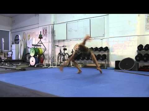 Acro Calisthenics Back Arch Leap Plyometric Push-up - Sydney Strength & Conditioning - YouTube