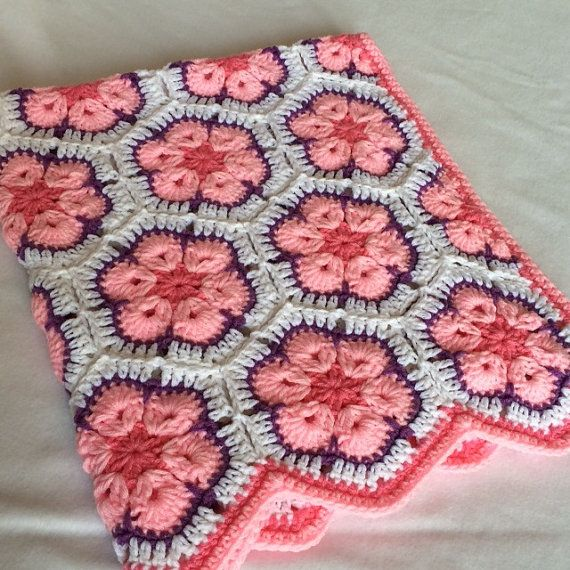 Baby Girl/Toddler/Child Crochet Blanket African por LupineCrochet