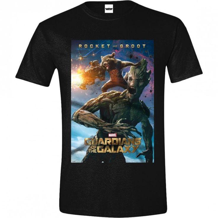 Guardians of the Galaxy - Rocket & Groot T-shirt - Black