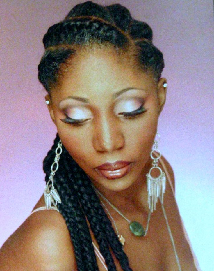 Natural French for black hairstyles women braid