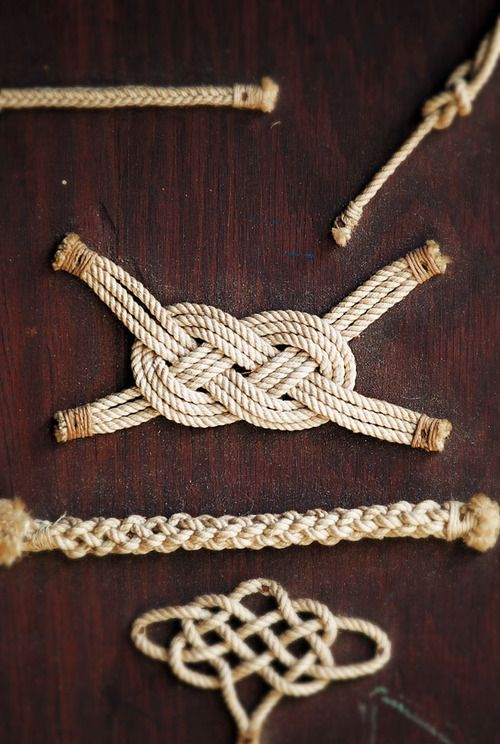 Knots #know #nautical #rope to use in my natural fibered rug
