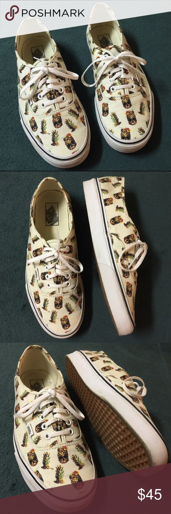 Authentic vans pineapple skulls Vans authentic pineapple skull.  Worn a couple of times but still in excellent condition as shown in photos  No trades Vans Shoes