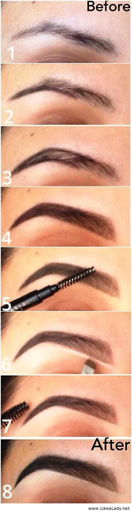 Brow tutorial, perfect eyebrows.