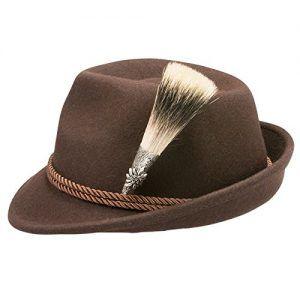 Trachtenhüte günstig kaufen | Alpenflüstern Herren Filzhut Trachtenhut Gamsjäger Edelweiß ADV06700L35 braun | 4250399134404