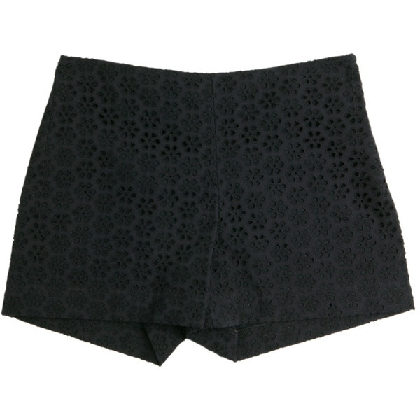 Short broderies anglaises bleu marine Cacharel Boutique en ligne... via Polyvore