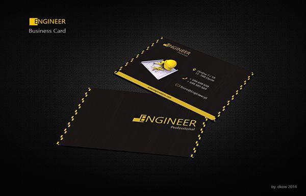 Engineer Business card by Dorota Kowalewska, via Behance