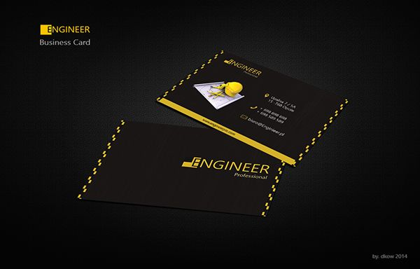 Engineer Business card by Dorota Kowalewska, via Behance