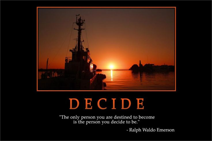 DECIDE- Ralph Waldo Emerson MOTIVATIONAL Poster Home Decorative painting Silk Wall Poster -High quality Picture For Gift(China (Mainland))