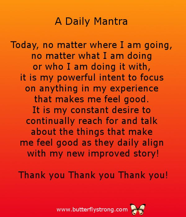 Daily Mantra ~ Alignment Affirmations