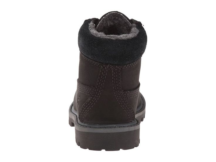 Timberland Kids 6 Premium w/ Faux Shearling (Toddler/Little Kid) Boys Shoes Black/Grey