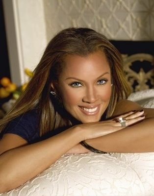 Vanessa Williams-beautiful woman with make-up.  Don't see her without it...