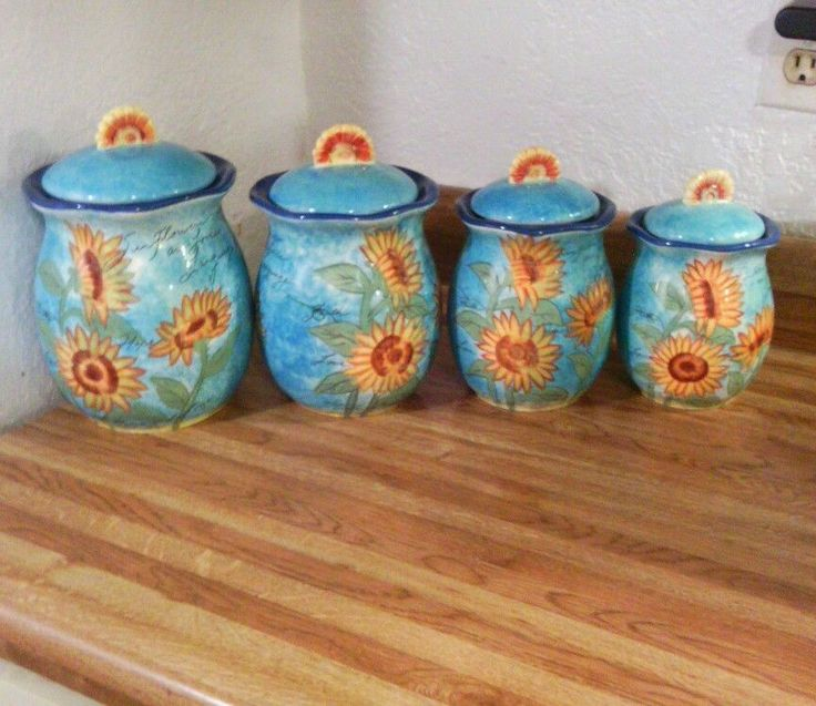 sunflower kitchen canister sets sunflower canisters set of 3 glass jars glass