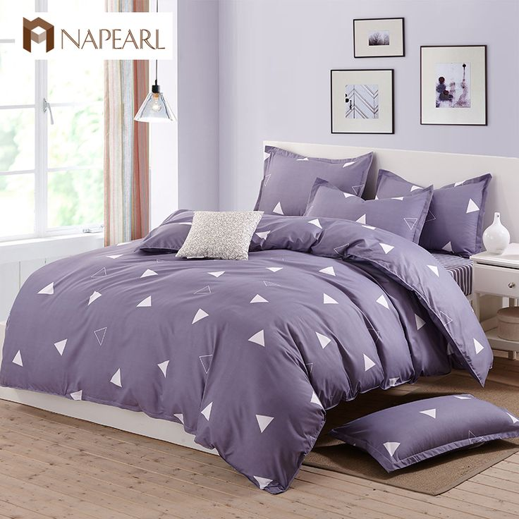 Bedding sets printed polyester and cotton home textile duvet cover simple geometric design bed cover bed sheet twin full king