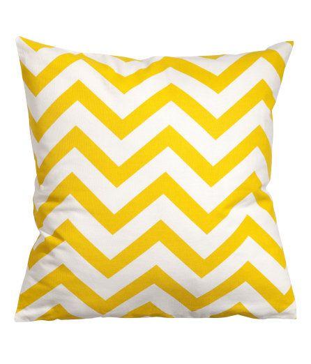 Yellow chevron cushion from H&M.