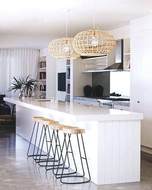 Cocina integrada en el salón #Cocinas #Kitchens