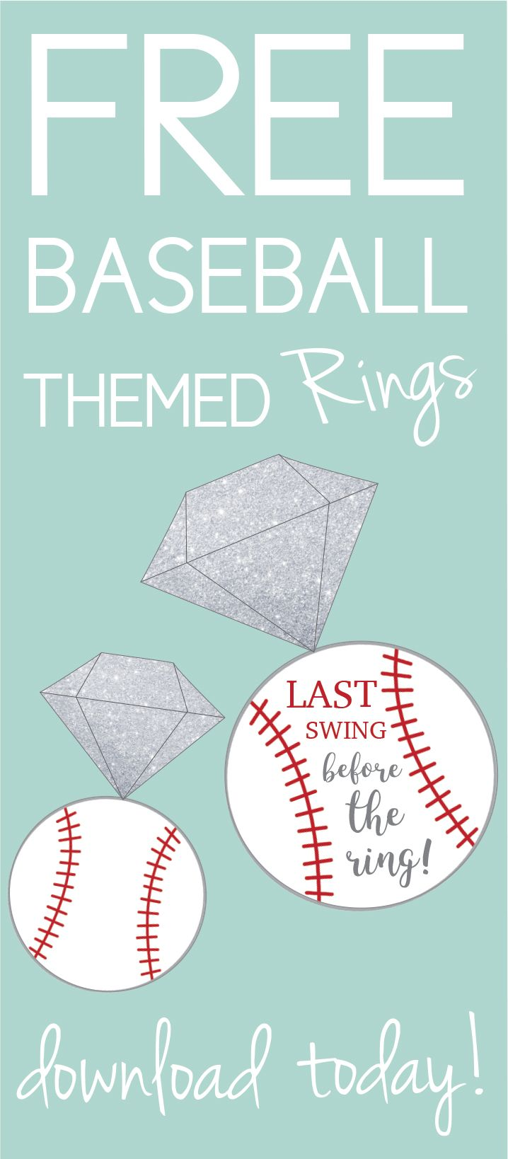 Last swing before the ring bachelorette party. Baseball theme. Click through to find matching games, favors, thank you cards, inserts, decor, and more. Or shop our 1000+ designs for all of life's journeys. Weddings, birthdays, new babies, anniversaries, and more. Only at Aesthetic Journeys