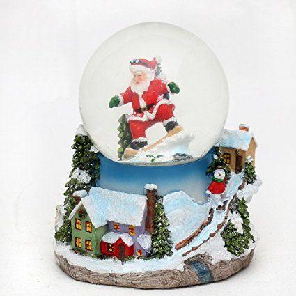 «santa verzaubernde boule à neige musicale avec schneewirbel