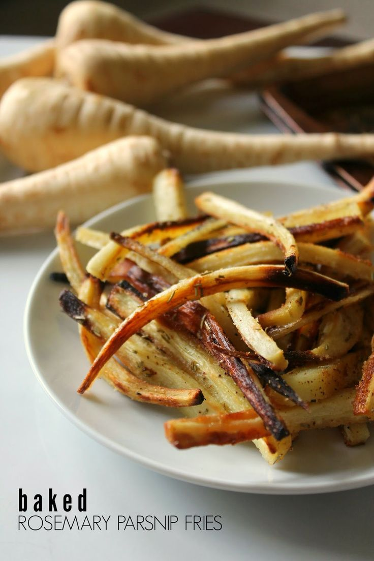Baked Rosemary Parsnip Fries