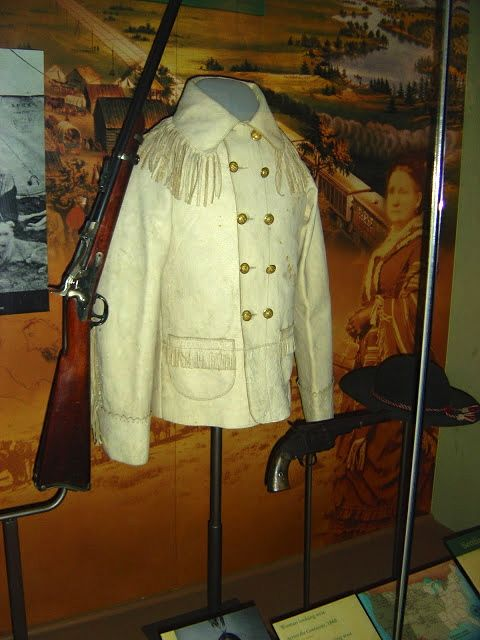 The uniform worn by General George Custer at the Little Big Horn in Montana.