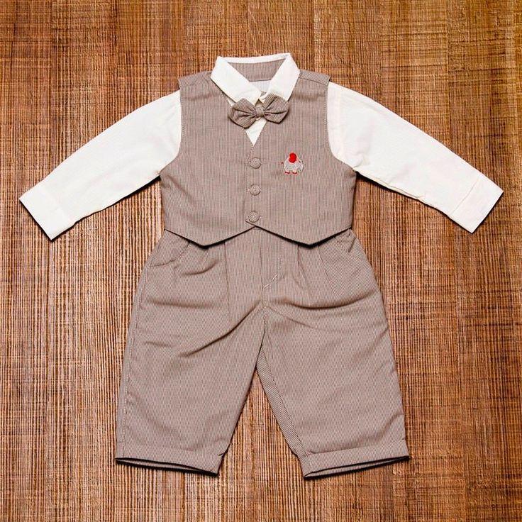 Conjunto Infantil Masculino Para Batizado Colete E Gravata - R$ 168,00 no MercadoLivre